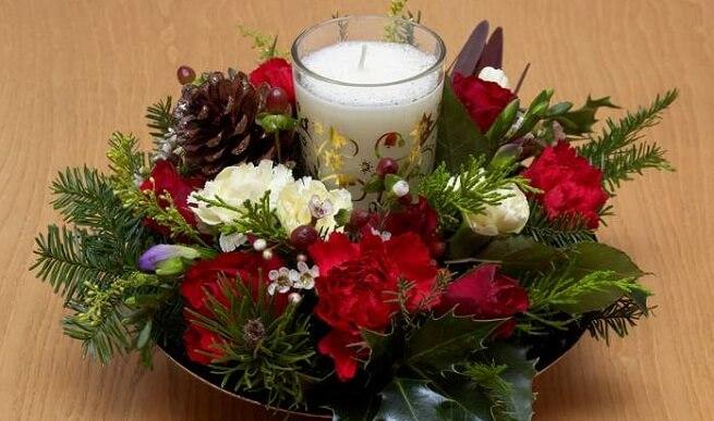 Arreglos florales navideños