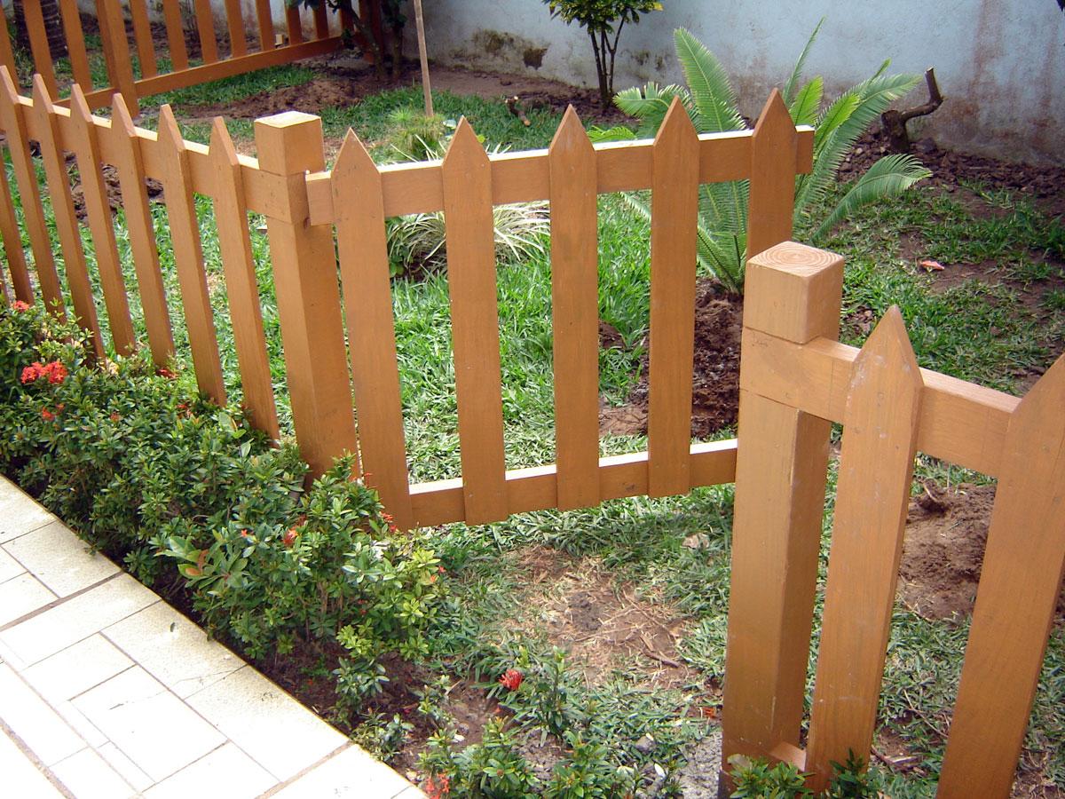 Cercos jardín en madera