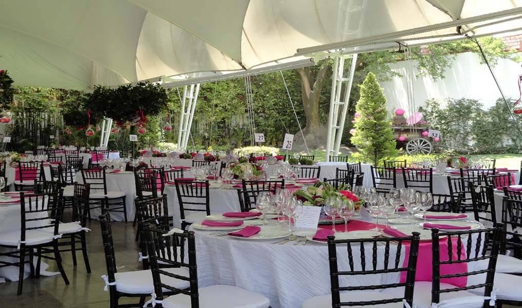 Decoración jardín para boda