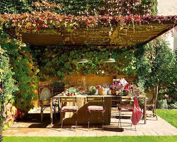 Pérgolas madera para jardín