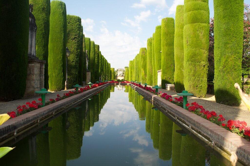 Jardín árabe con sus características