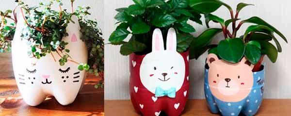 Macetas decorativas de animales